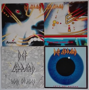 4 winylowe single - Def Leppard - Pour Some Sugar On Me