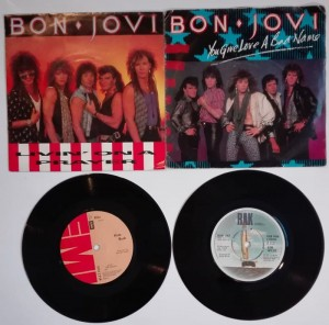 Bon Jovi Kim Wilde Kate Bush 4 płyty winylowe single