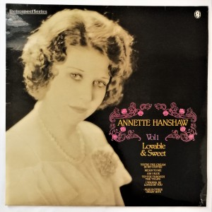 Annette Hanshaw Vol 1 Lovable & Sweet LP winyl dosk