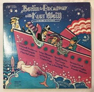 Berlin To Broadway With Kurt Weill LP PAS4000