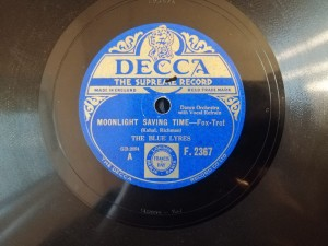 THE BLUE LYRES MOONLIGHT SAVING TIME Decca F2367