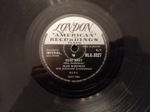 WHITMAN DEAR MARY/WHIFFENPOOF SONG London HLU8327