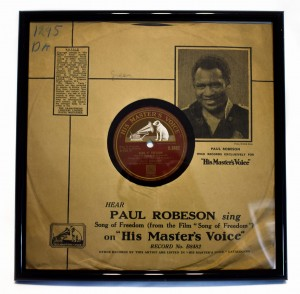 Shellac record in frame HMV Paul Robeson PR123