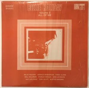 Billie Holiday - Volume 3, All Of Me LP SAGA6930
