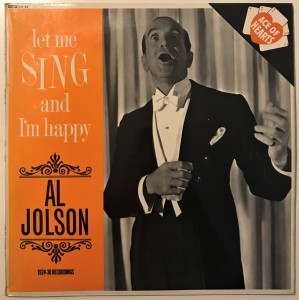 Al Jolson - Let Me Sing And I'm Happy LP AH33 bdb