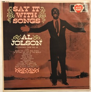 Al Jolson - Say It With Songs LP AH87 bdb