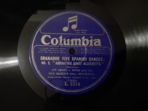 H.Wood Granados Five Spanish Dances Columbia L1214