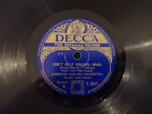 AMBROSE Can't Help Singing/More and... Decca F8511