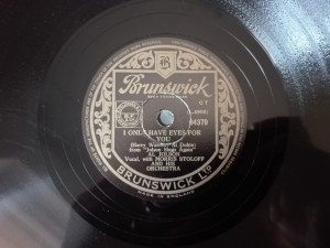 Al Jolson I Only Have Eyes For You Brunswick 4379