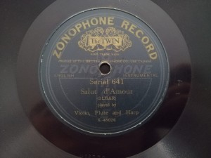 The Rosary / Salut d'Amour Zonophone 641