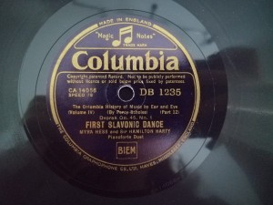 Myra Hess First Slavonic Dance Columbia DB1235
