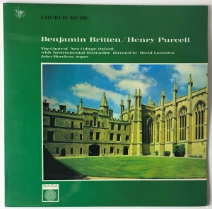 Benjamin Britten - Church Music LP SAGA5285 BDB