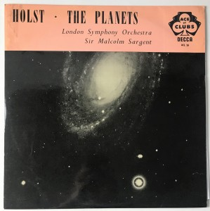 Holst Sir Malcolm Sargent The Planets LP ACL26 BDB