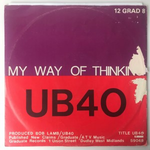 "UB40 - My Way Of Thinking SP 12"" 12GRAD8 DB"