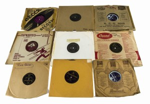 Set of 9 shellac records entertainment music from 30this - 50this
