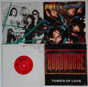 4 single - Van Halen, KISS, Sammy Hagar, Roadhouse