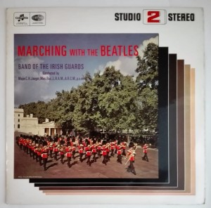 Band The Irish Guards Marching With The Beatles LP bdb