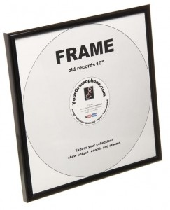 Frame for shellac or vinyl record 10""