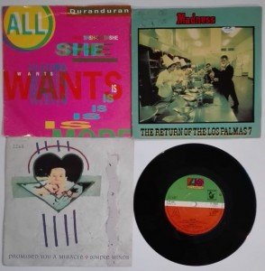 Boney M, Madness, Duranduran 4 single winyle
