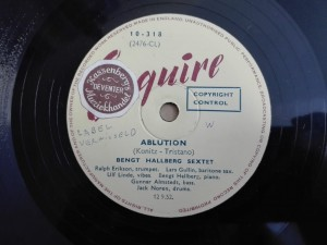 Bengt Hallberg Sextet - S'Wonderful / Ablution, Esquire