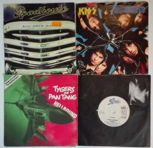 4 single - Alice Cooper/Tygers Of Pan Tang/KISS/Roadhouse