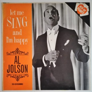 Al Jolson - Let Me Sing and I'm Happy LP winyl stan db