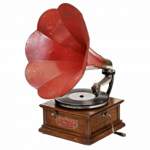 Standard Talking Machine Co. Model A Horn Gramophone, c. 1906, oak case