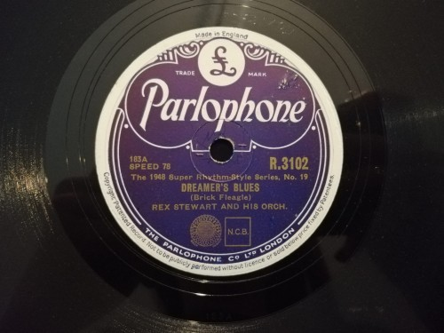 R3102 Parlophone Rex Stewart and his orchestra Dreamer's Blues  Shady Side Of The Street b.jpg