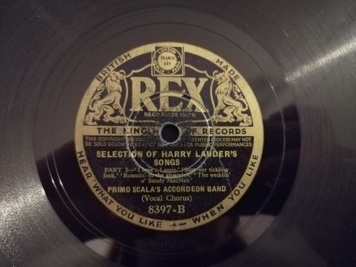 8397 Rex Primo Scala's Accordeon Band Selection of Harry Lauder Songs Part 1  Selection of Harry Lauder Songs Part 2 b.jpg