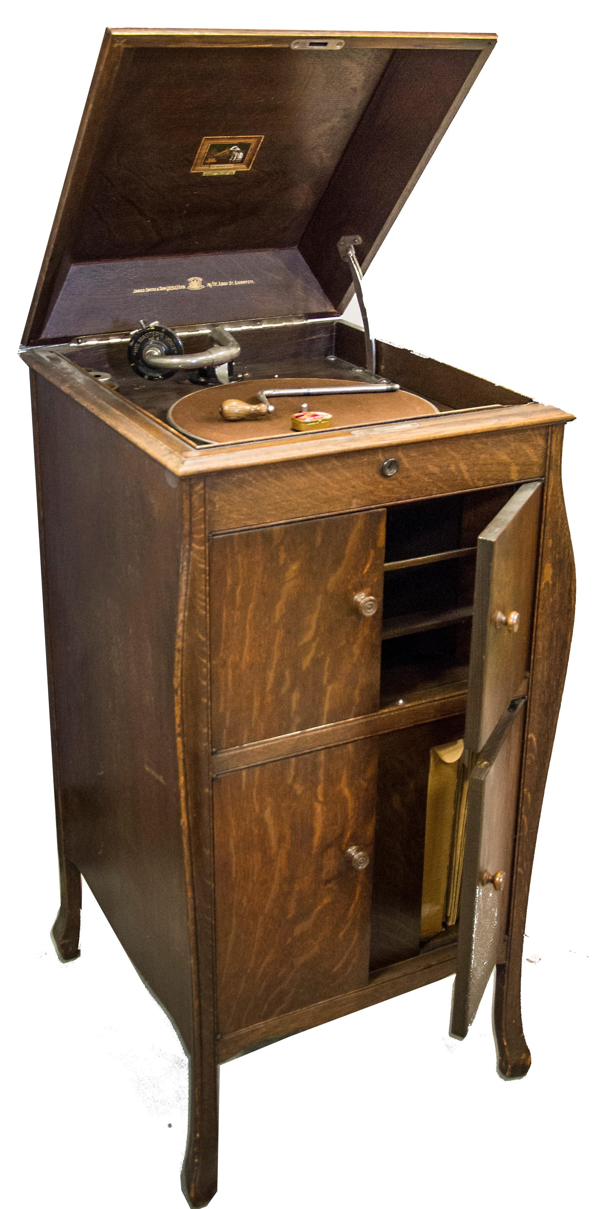 Hmv Cabinet Gramophone Model No 161 With No 4 Soundbox And