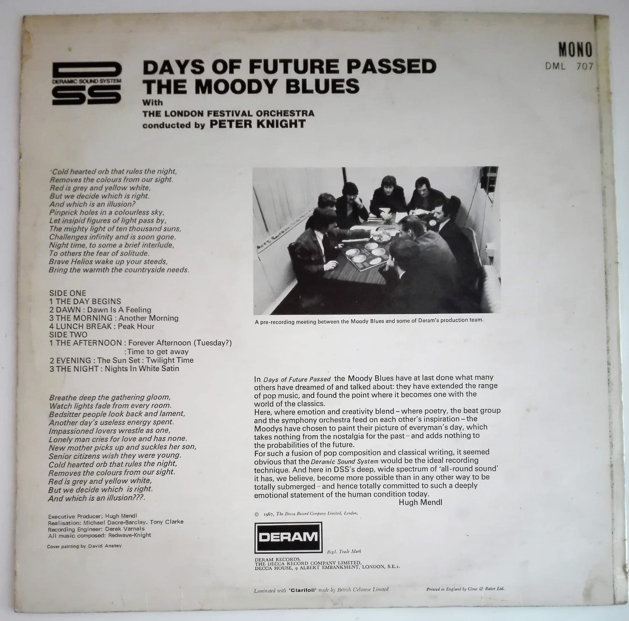 The Moody Blues - Days Of Future Passed LP vinyl poor